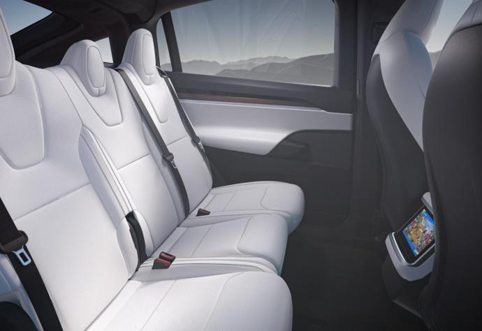 Tesla Model X 2021 Backseat