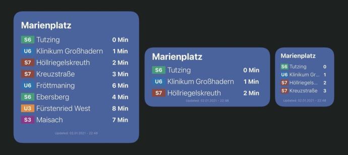 Mvg Abfahrtsmonitor Widget Scriptable