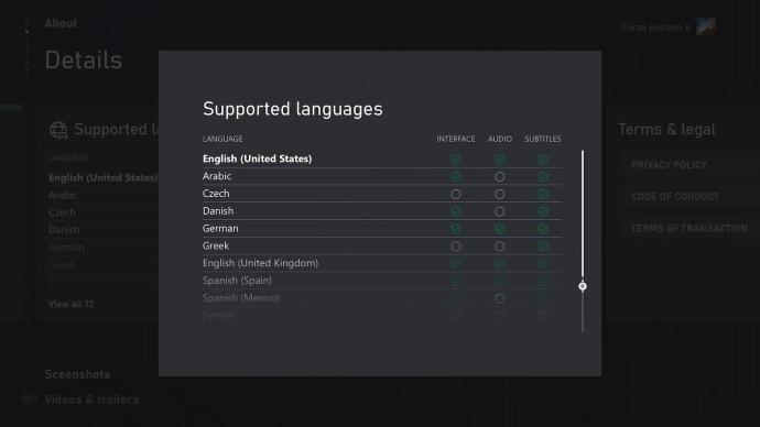 Xbox Store Sprachen