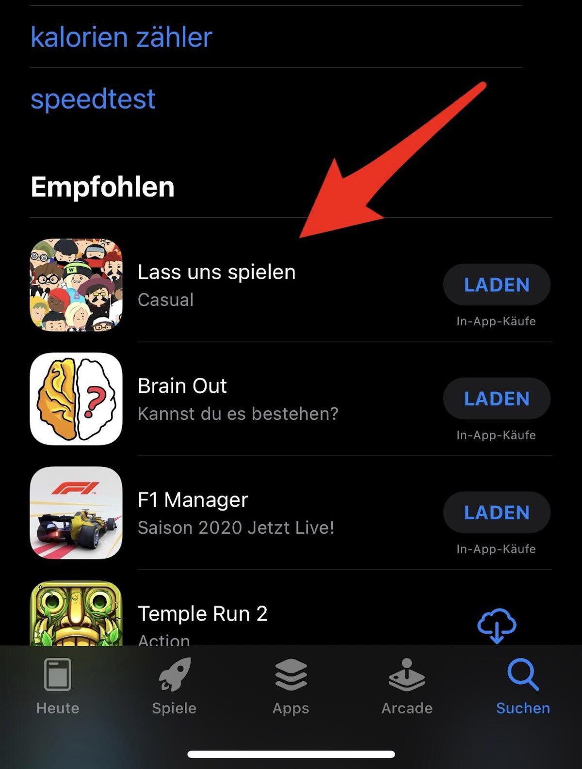 App Store Suche Werbung Neu