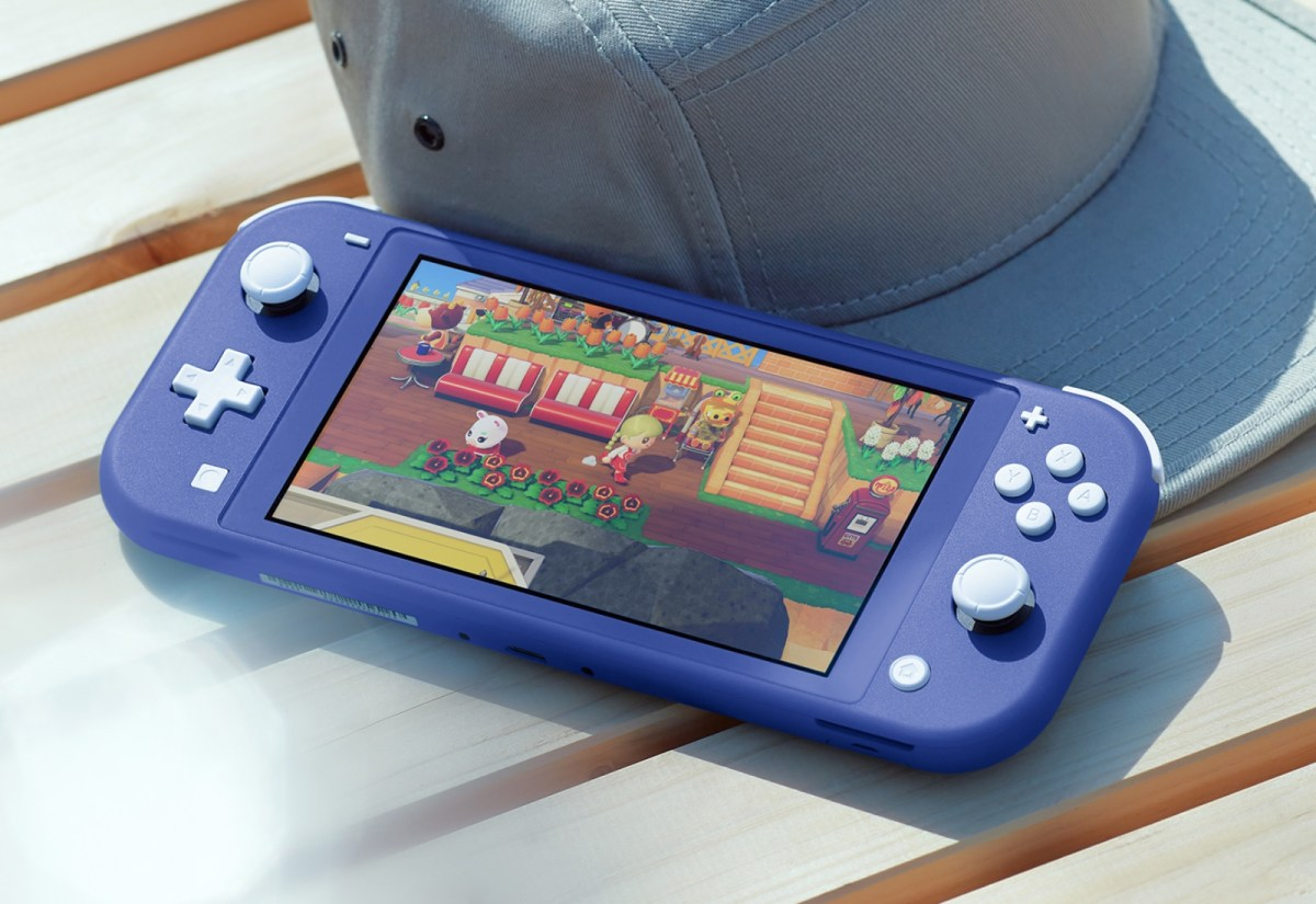 Nintendo Switch Lite Blau Header