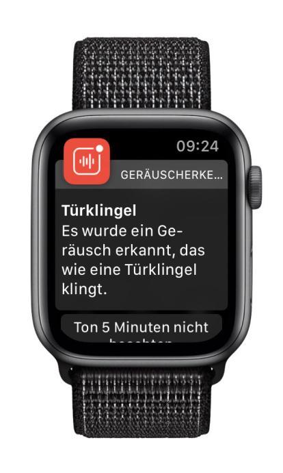 Geraeuscherkennung Iphone Watch