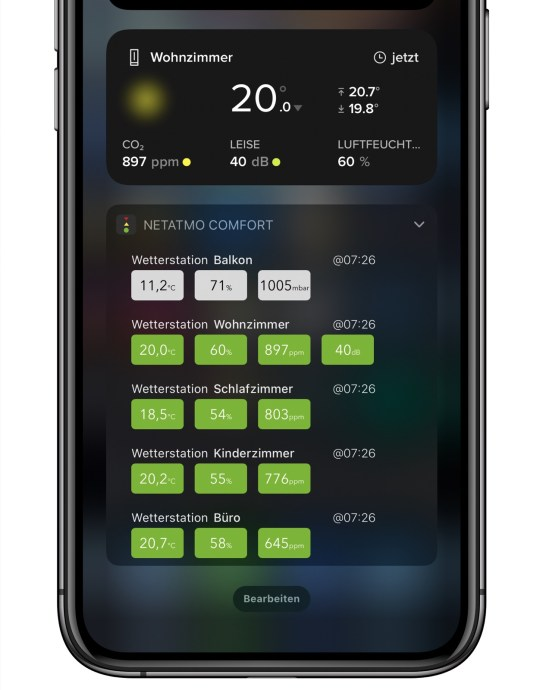 Netatmo Weather Widgets