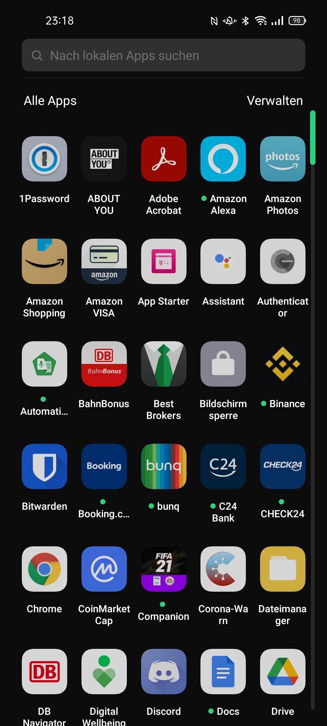 Oppo Find X3 Neo Appdrawer