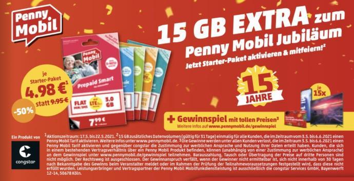 Penny Mobil Rabatt 15 Gb