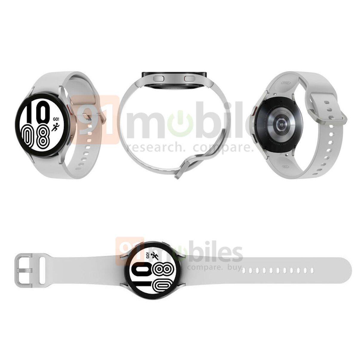 Samsung Galaxy Watch 4 Leak Silber