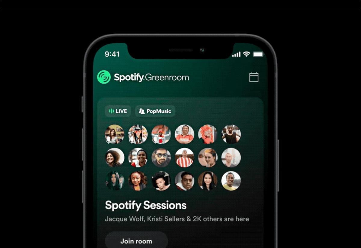 Spotify Greenroom Header