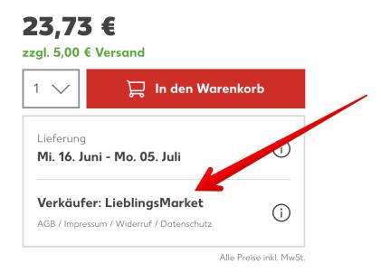 Verkaeufer Kaufland Marketplace