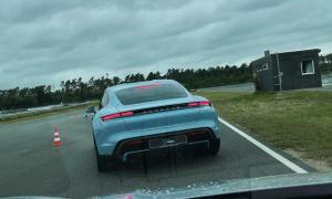 Porsche Taycan Hockenheim Rennstrecke