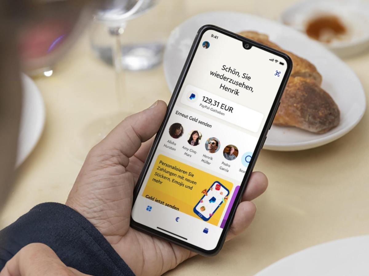 Paypal App Neu Header