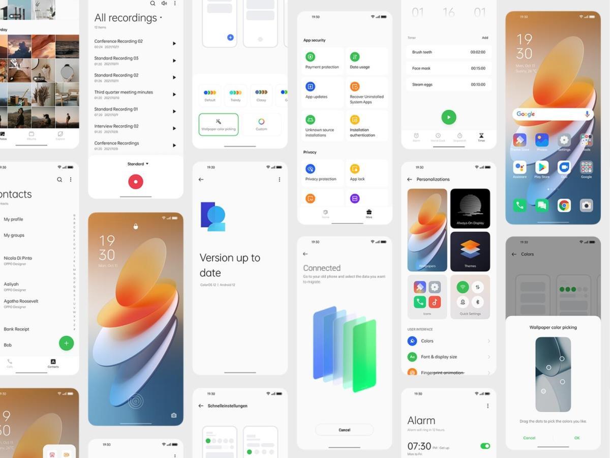 Coloros 12 Screens