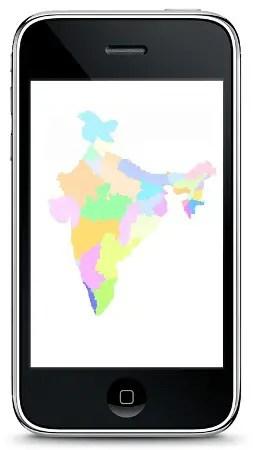 iphone india map