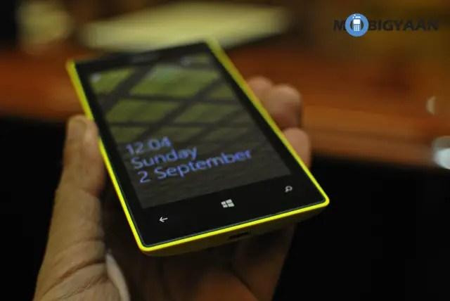 Yellow Nokia Lumia 520
