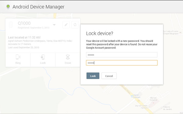 Lock-Android-device-manager