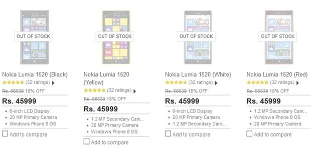 Lumia-1520-out-of-stock-Flipkart