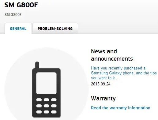 Samsung-SM-G800F-S5-Mini-support-page