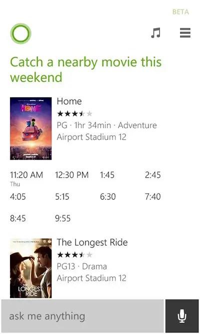 Cortana-movie-recommendation