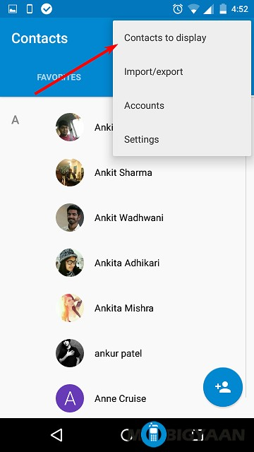 How to display Contacts with Phone Numbers only on Android (1)