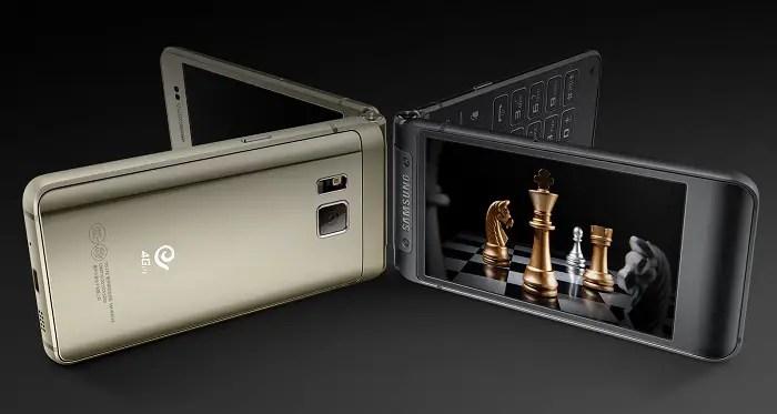 samsung-w2016-flip-phone-metallic-glass