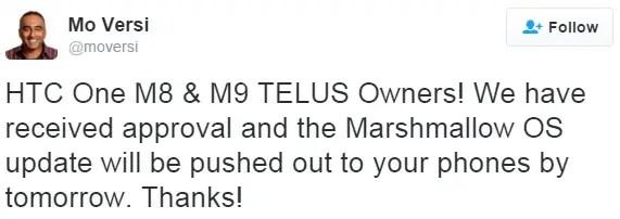 htc-one-m8-m9-telus-marshmallow-update-canada
