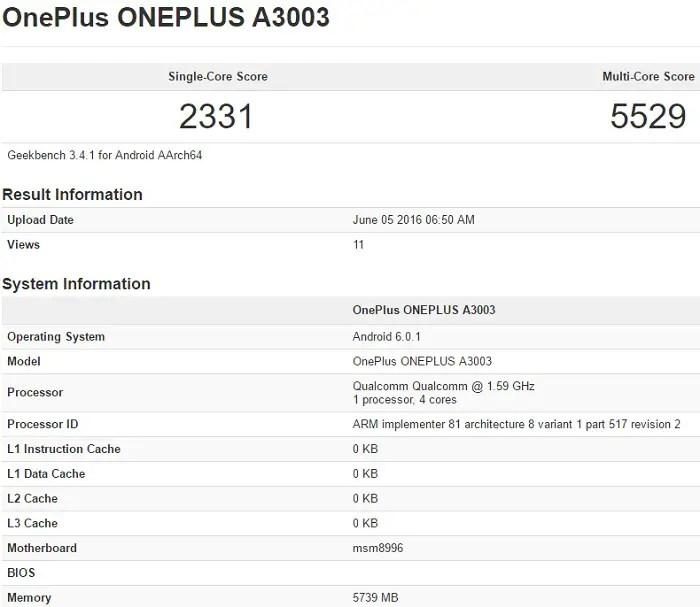 oneplus-3-a3003-geekbench