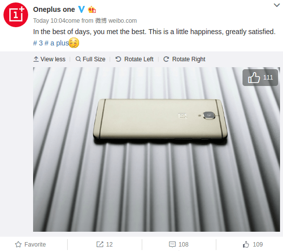 oneplus-3-soft-gold-variant-teased