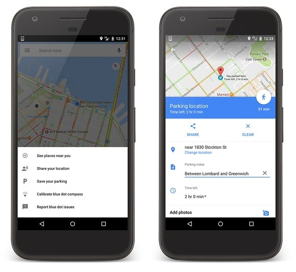 google-maps-parking-feature