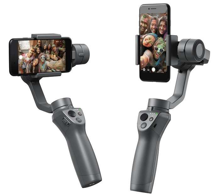 DJI Osmo Mobile 2 supports Portrait orientation as well