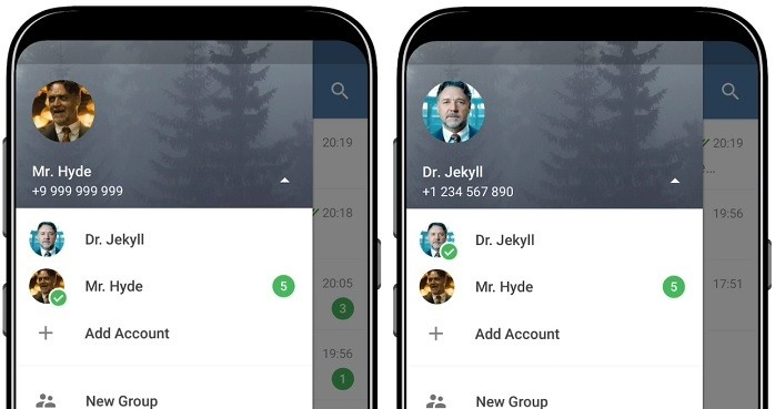 Telegram 4.7 adds support for multiple accounts and quick replies