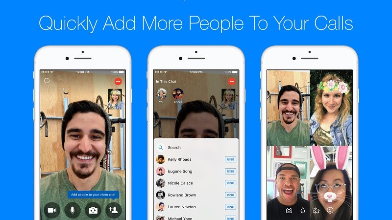 Facebook Messenger now lets you turn one-to-one calls into group chats