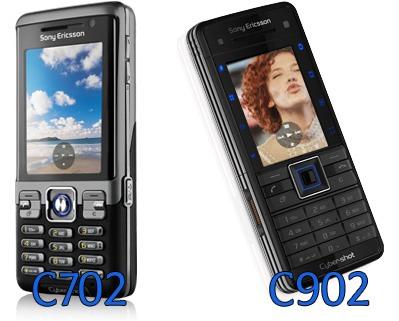 Sony Ericsson C702 ja C902