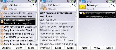 UIQ3 RSS ja emal