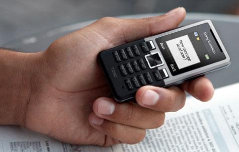Sony Ericsson uusi tekstiviesti