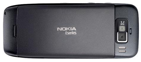 Nokia E55 takaa musta