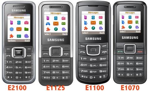 Samsung E2100, E1125, E1100 ja E1070