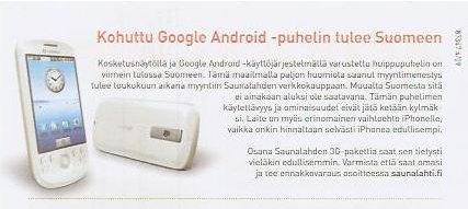Saunalahti HTC Magic