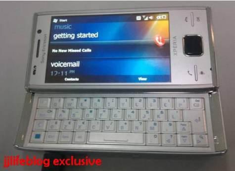 Sony Ericsson XPERIA X2 hopeinen