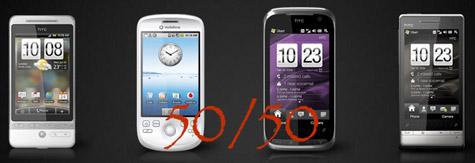 HTC Android ja Windows Mobile