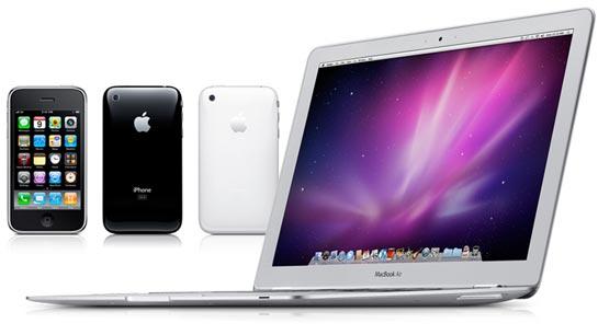 iPhone 3GS ja MacBook Air