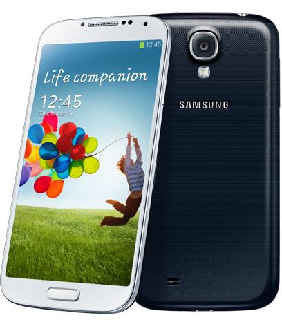Samsung Galaxy S4, musta ja valkoinen