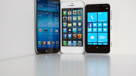 Galaxy S4, iPhone 5, Lumia 620
