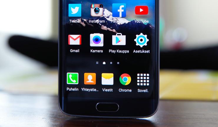 Galaxy S6 kotipainike, kamera