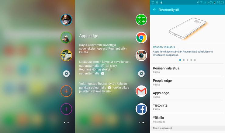 Galaxy S6 edge+, People edge, Apps edge