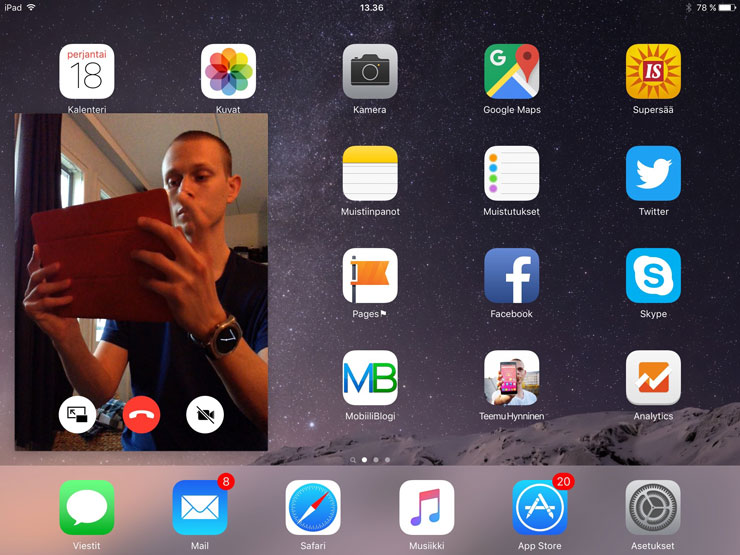 iOS 9, Picture in Picture