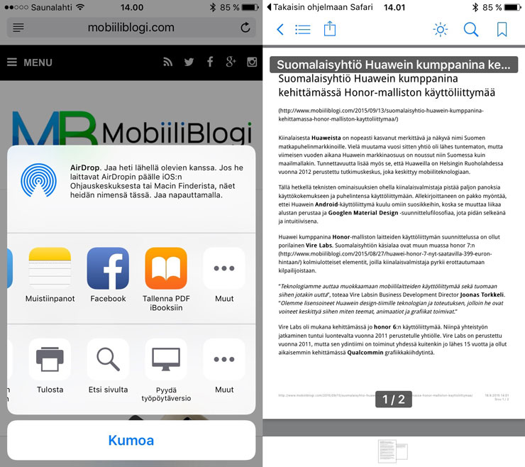 iOS 9, jako