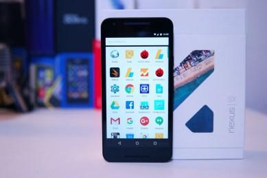 Nexus 5X, sovellusvalikko