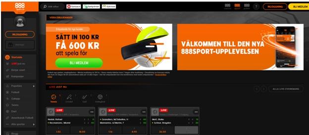 888 Sport- Den bästa sportsbookie för svenska spelare