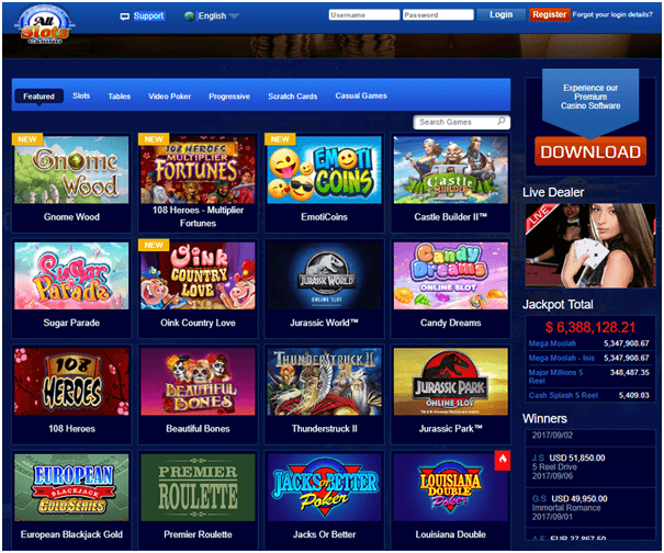 All slots casino spel