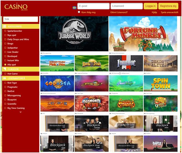 Casinospel att spela på Casinouk