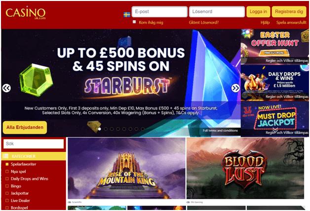 Casinouk välkomstbonus för nya spelare
